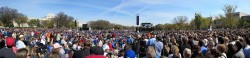 A panoramic photograph of the Rally to Restore Sanity in Washington DC on 30 October 2010