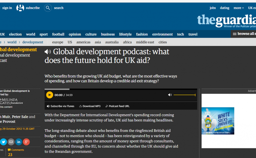 Screenshot of the Guardian Podcast