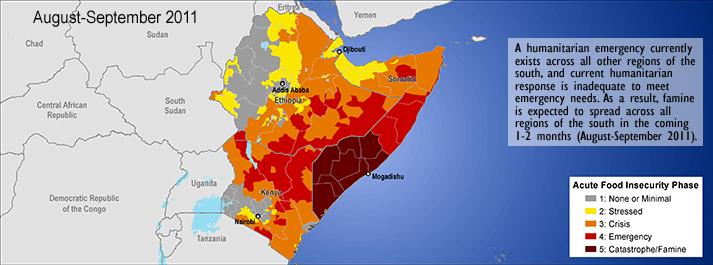 Map of the Horn of Africa by the Famine Early Warning System Network (FEWS-NET)