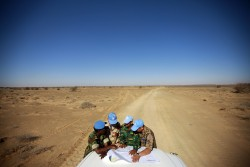 Peacekeepers with the UN Mission for the Referendum in Western Sahara