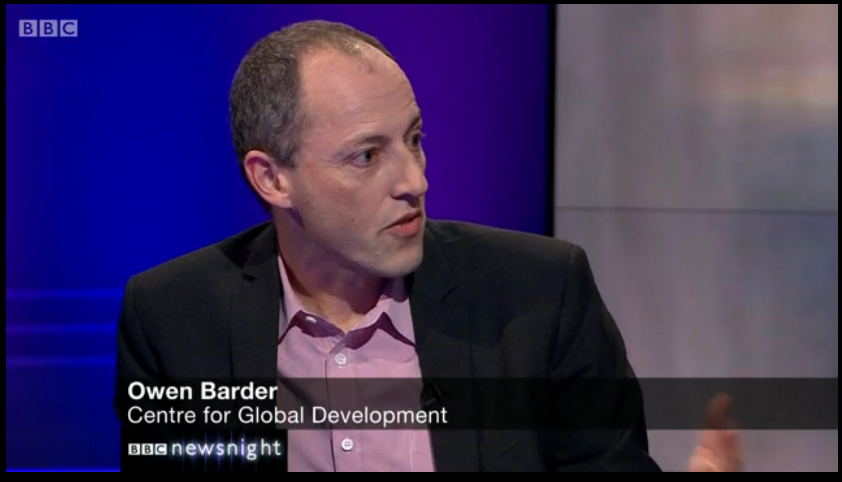 Owen Barder on Newsnight
