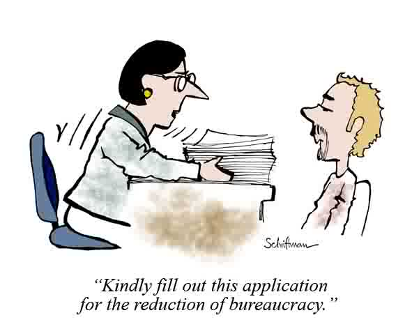 Reducing bureaucracy cartoon