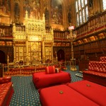 The throne of the House of Lords