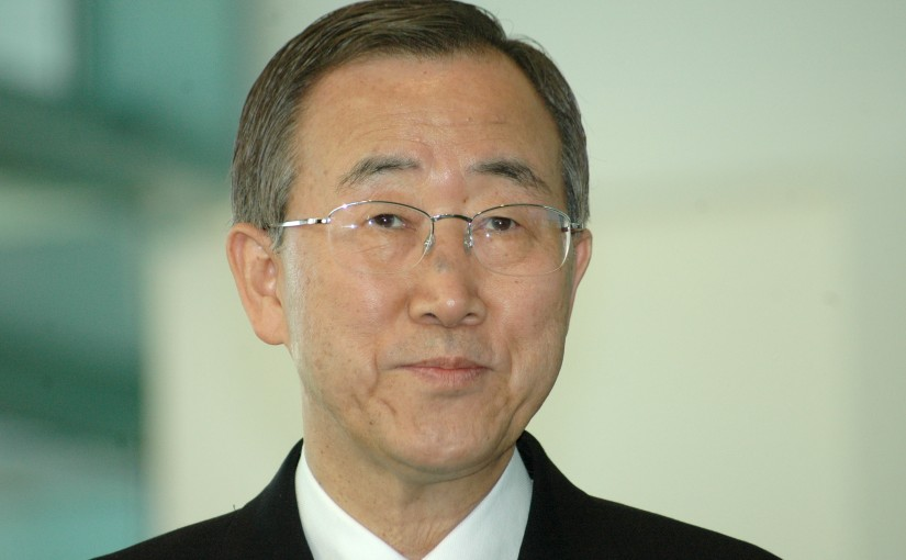 Headshot photo of Ban Ki-Moon, Secretary General of the United Nations