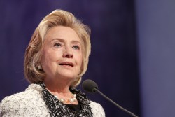 Hillary Clinton attends the Clinton Global Initiative Annual Meeting at The Shertaon New York Hotel on September 25, 2013 in New York City.