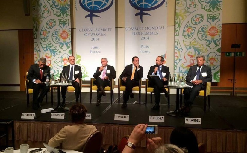 An all male panel at the Global Summit for Women