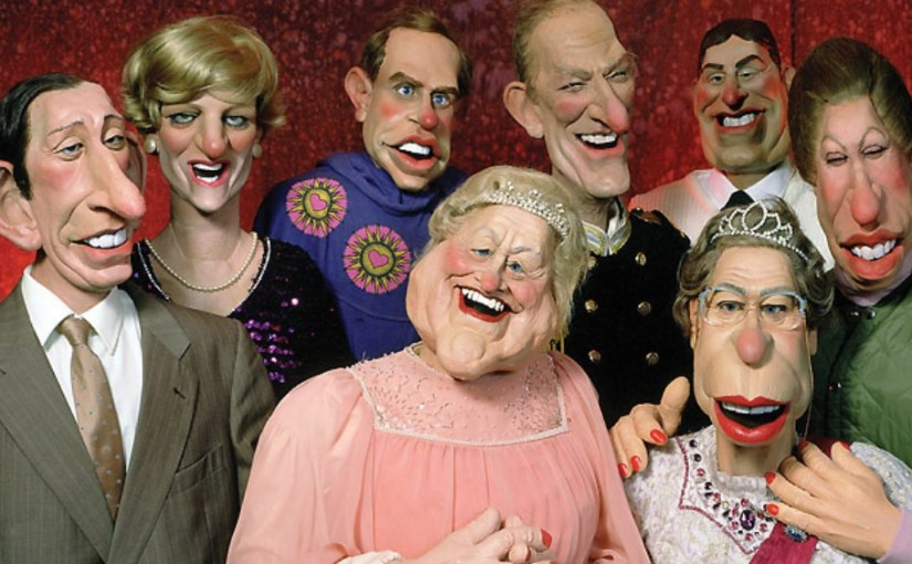 Spitting Image puppets of the Royal Family